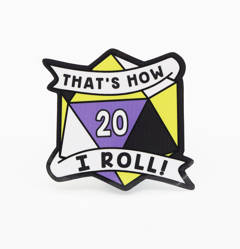 Thats How I Roll Sticker: Nonbinary Pride