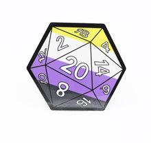 Load image into Gallery viewer, D20 Sticker: Nonbinary Pride