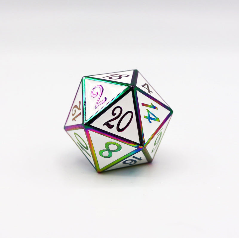 D20 Burnt Opal with White - 35mm Extra Large