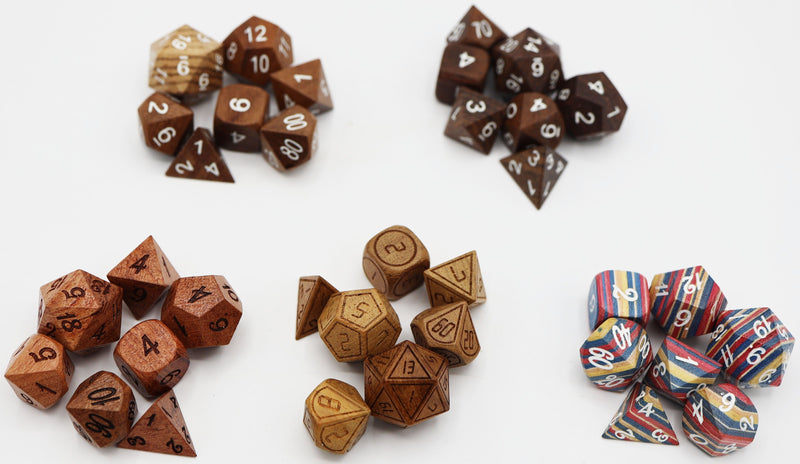HAPPY BIRTHDAY HOT DEAL!  $45 Mystery Set of Wood Dice!