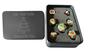 2019 Limited Edition Metal Christmas Dice Set