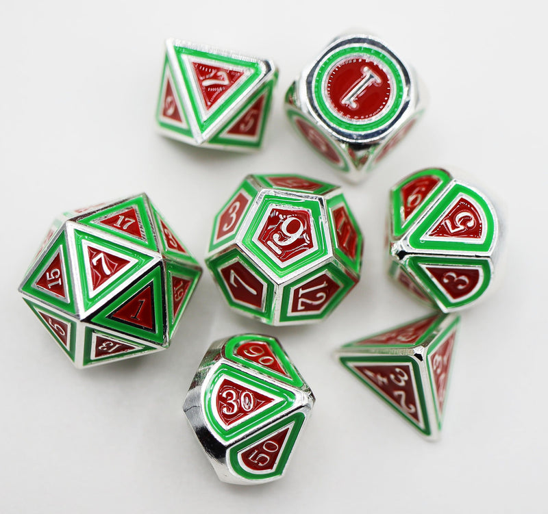 Limited Edition Metal Christmas Dice Set