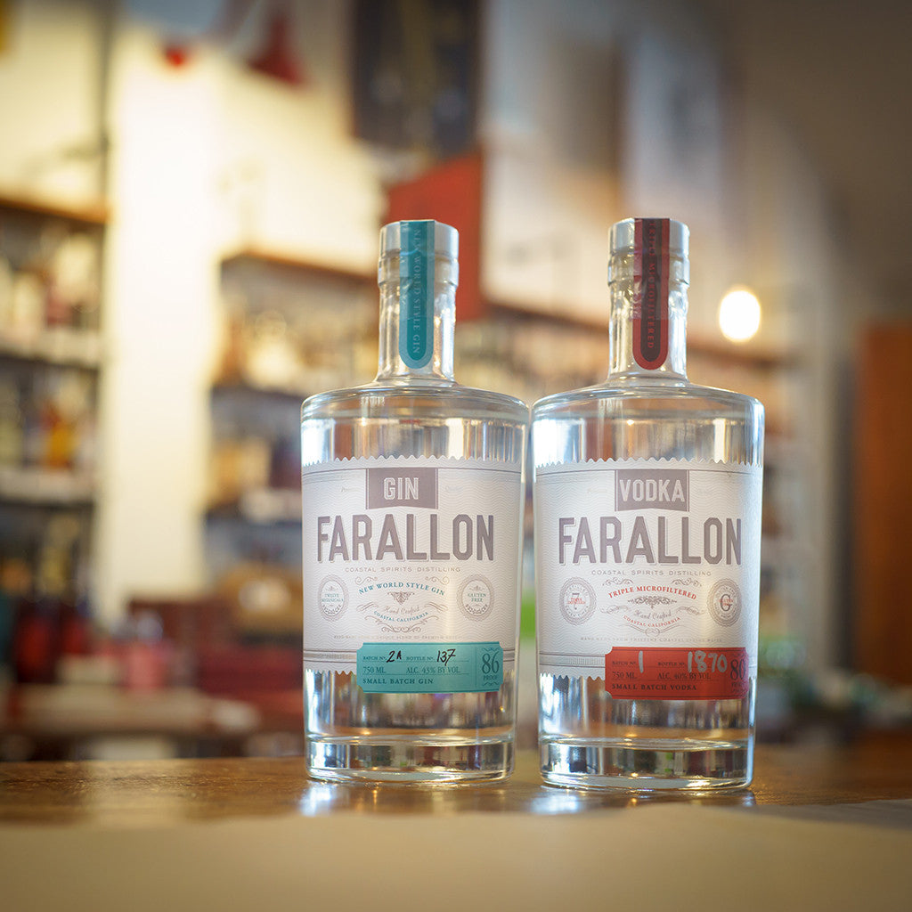 Farallon Gin and Farallon Vodka