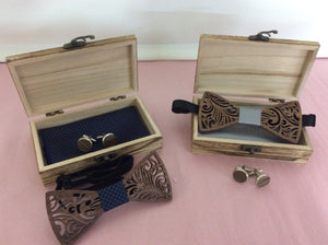 Mens Cuff Links and bow