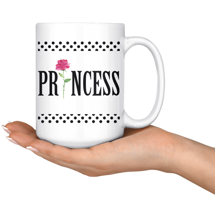 Black Dots Princess Coffee/Tea Mug 15 Oz - ${shop-name