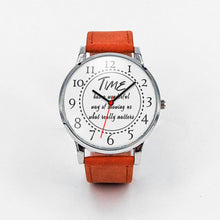 Load image into Gallery viewer, Time has a wonderful way of showing what really matters Unisex Watch Personal Gift - sea-gull