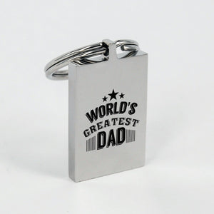 World Greatest Dad Father's Day Engraved Keychain personal gift - ${shop-name