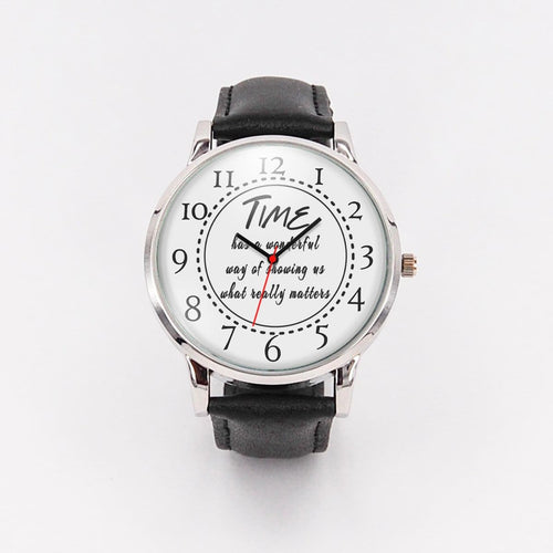 Unisex watches Time has a wonderful way - custom design - ${shop-name