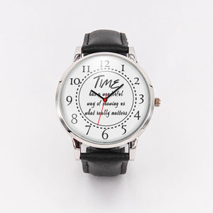 Time has a wonderful way of showing what really matters Unisex Watch Personal Gift - sea-gull
