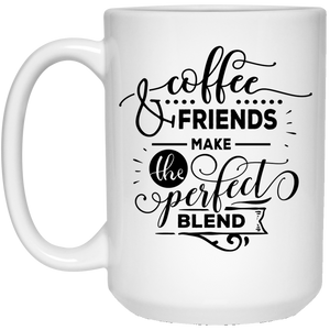 Coffee & Friends | Coffee Mug with quotes 15 Oz. Personal Gift - sea-gull