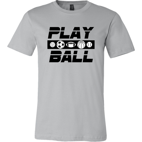 Men's Canvas T-Shirt Play Ball Games Sports - ${shop-name