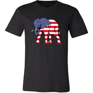 Men's American flag t shirt Patriotic elephant July 4th - ${shop-name