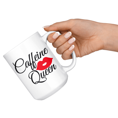 Caffeine Queen coffee mugs 15 Oz