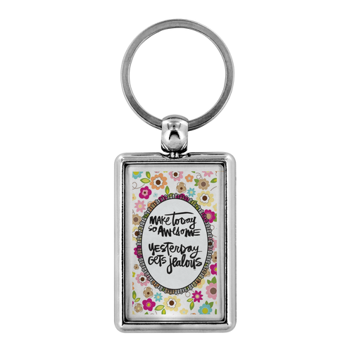 Metal Keychain | Personal gift Keychain double side print - ${shop-name