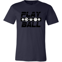Load image into Gallery viewer, Men's Canvas T-Shirt Play Ball Games Sports - sea-gull