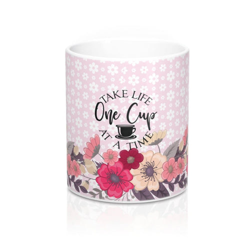 Take Life One Cup At  A Time Coffee Tea Espresso Mug 11oz - sea-gull