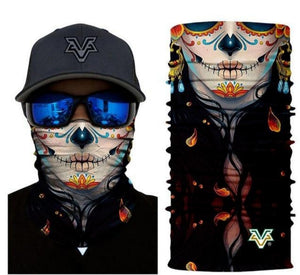 """Day of the Dead"" Lady Unisex Head bandana - buffway"
