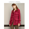 Tweed jacket women long section New Year 2019 red ladies small fragrance shirt