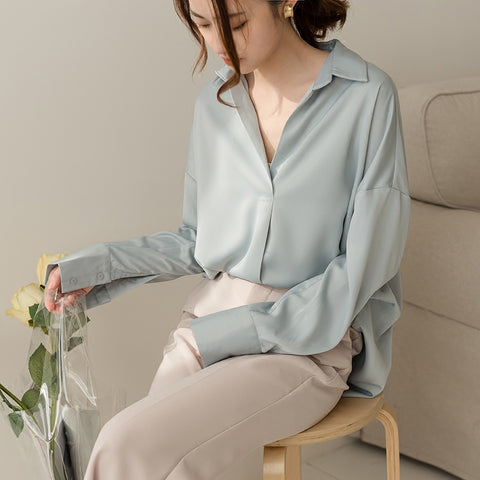 Silk shirt women