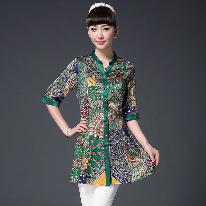 Silk shirt 2019 spring and summer, silk blouse women 571319190372#3697461389107 571319190372#3697461389105 571319190372#3697461389111 571319190372#3697461389109 571319190372#3697461389115 571319190372#3697461389113