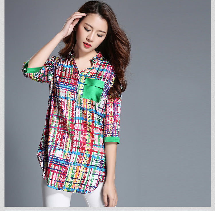 Silk shirt women,  luxury big mulberry silk shirt