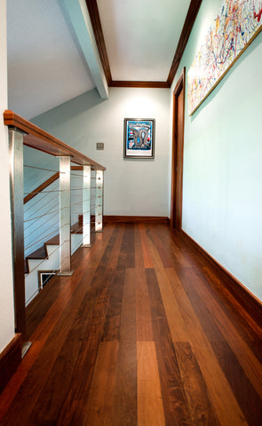 Ipe Flooring with mahogany millwork