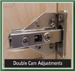 0mm Hinge Plate - Cam Adjustable