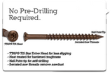 "Self-Drilling Deck Screws #8 x 2"" 350pc"