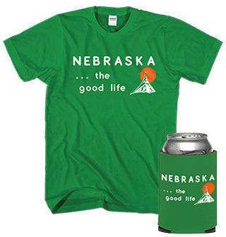 Welcome to Nebraska Koozie and Tee
