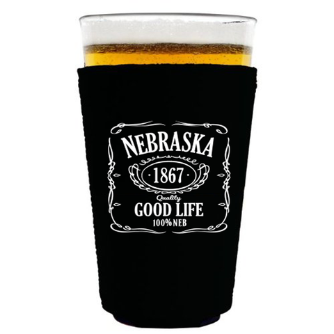 Nebraska Good Life Pint Koozie