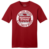 Nebraska Strong Flood Relief Red SS T-Shirt