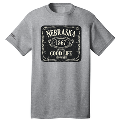 Men's Nebraska Good Life Grey T-Shirt