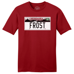 Men's Frost Nebraska License Plate Tee