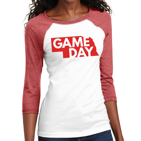 Juniors Raglan 3/4 Sleeve Raglan Game Day Tee
