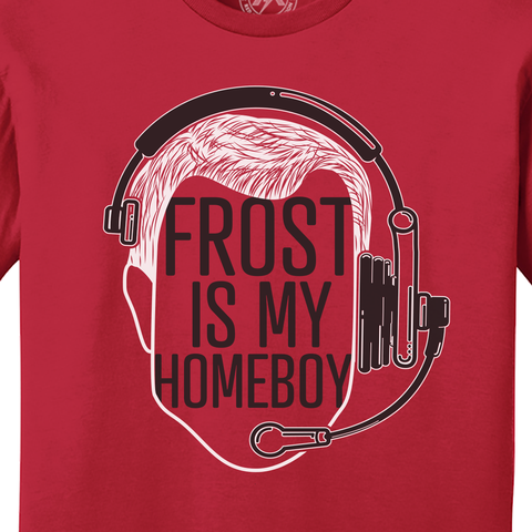 Nebraska Football Frost is My Homeboy T-Shirt Detail