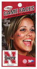 Nebraska Husker Game Day Face Tattoos