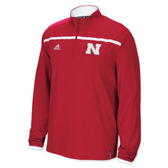 2015 Nebraska Huskers Sideline 1/4 Zip by Adidas - Red - LS