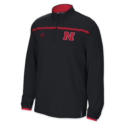 Nebraska Huskers 1/4 zip black adidas performance