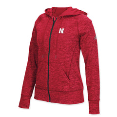 Womens Nebraska Huskers Zip Hoody by Adidas