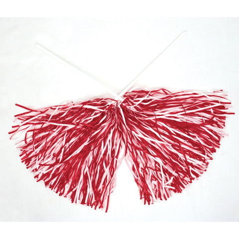 Nebraska Football Red & White Pom Poms