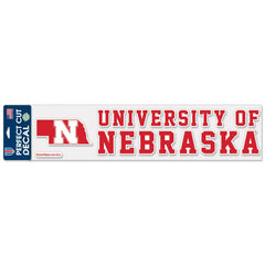 University of Nebraska Decal with State