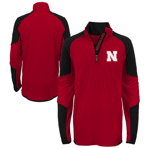 Kids/Youth Nebraska Huskers Performance 1/4 Zip-Red