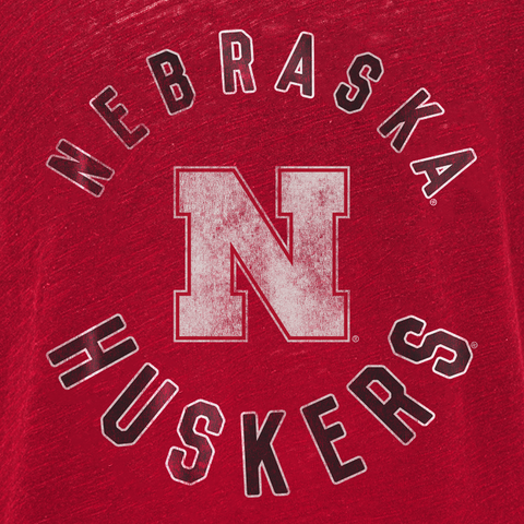Youth Girls Vintage Nebraska Huskers Football Top-Red Detail