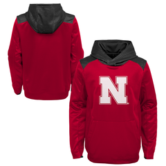 Youth Nebraska Pullover Nebraska Husker Hoodie-Red