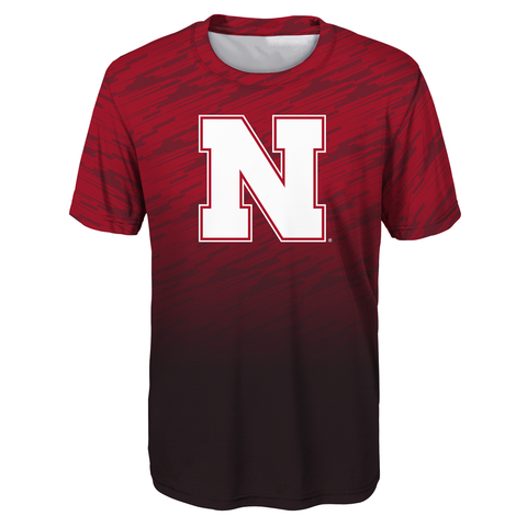 Youth Nebraska Husker Football Dri-Tek Tee