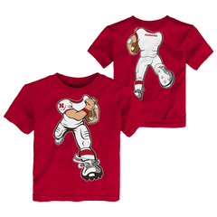 Toddler Nebraska Huskers Football Yard Rush Cotton Tee-Red