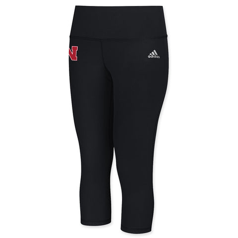 Nebraska Work Out Yoga Pant by Adidas - Black
