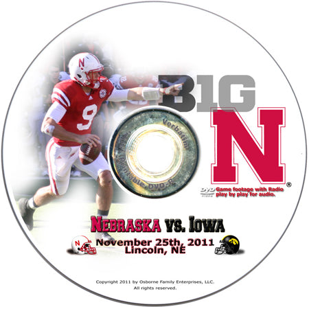 Heroes Game DVD Nebraska vs Iowa