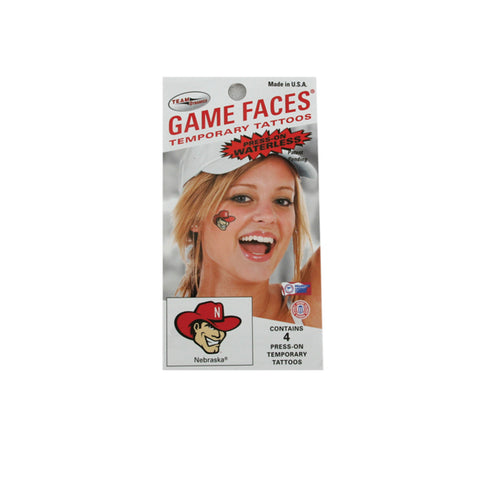 Nebraska Herbie Huskers Face Tattoos