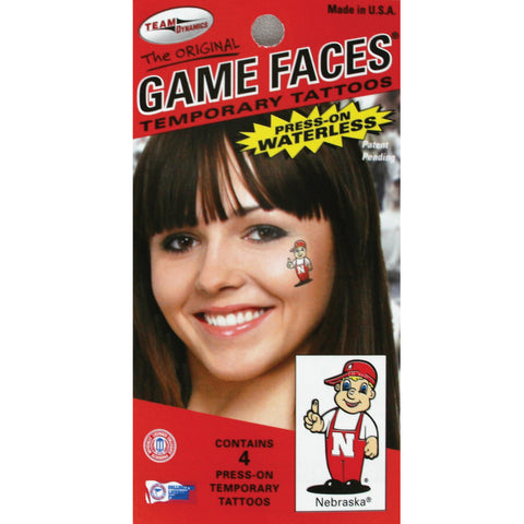 Lil' Red Game Face Temporary Tattoos